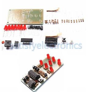 Electronic Dice NE555 CD4017 DIY Kit 5mm Red LEDs 4.5-5V
