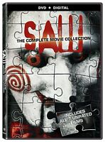 Saw The Complete Movie Collection Dvd Horror All 7 Films Full Series Box Set