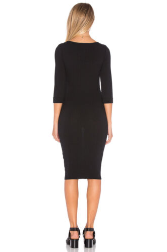 Minkpink Midnight Mischief DressBlack fitted Bodycon knee length keyhole