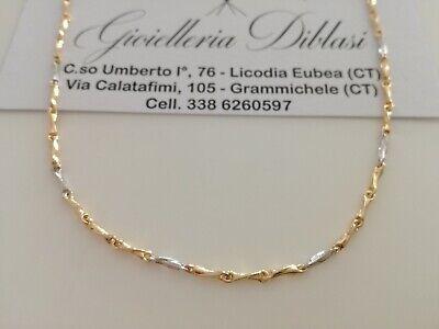 Collana uomo donna unisex in oro giallo 18 karati 750/% Made in Italy