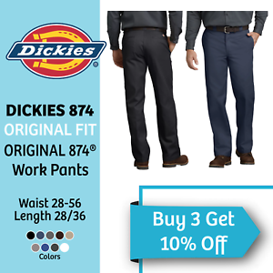 DICKIES-874-Mens-Work-Pants-Original-Fit-Uniform-School-Trousers-Dickies-Pants
