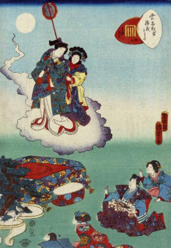 Japan Poster.Fine Graphic Art Design.Angels.Interior design.Asian art Decor 35