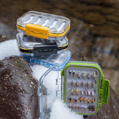 fentes mousse Waterproof Double couvercle tranparent Maxcatch Boîte à mouches