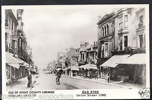 Isle-of-Wight-Postcard-Old-Ryde-Union-Street-c-1905-Pamlin-Print-MB1760