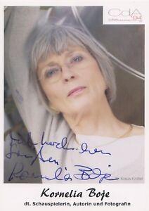 Kornelia-Boje-original-signierte-Autogrammkarte-Schauspielerin