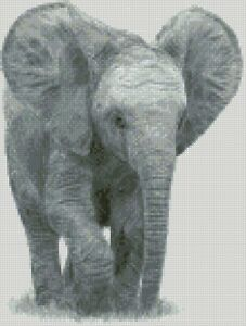 Cross-Stitch-Chart-Kit-Elephant-Baby