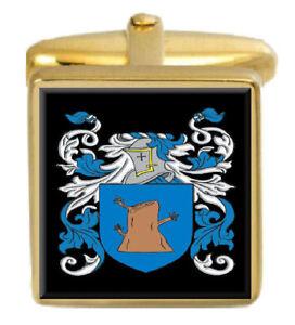 Oake England Familie Wappen Heraldik Manschettenknöpfe Schachtel Set Graviert Attraktiv Und Langlebig