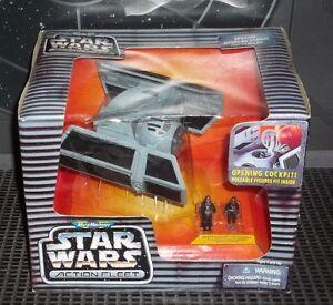 STAR-WARS-ACTION-FLEET-DARTH-VADER-039-S-TIE-FIGHTER-W-VADER-amp-PILOT-MINI-FIGURES-oo