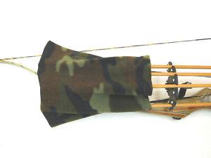 Traditional Archery  Bow Hunting Fletch Cover Arrow Bonnet Fleece Woodland Camo