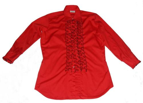 VTG L & M Fashions Red & Black 3- Ruffle Tuxedo Me