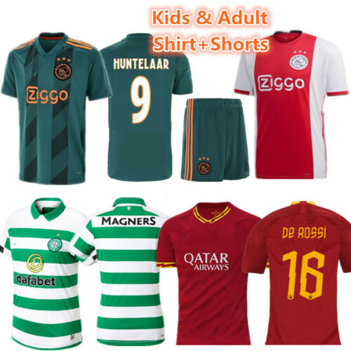 New Youth Football Training Kit Kid Boys Soccer Jersey Strips Sportswears Outfit
