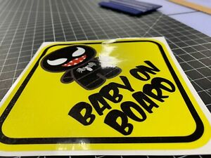BABY ON BOARD BATMAN BABY CHIBI Warning WINDOW DECAL STICKER VINYL AWESOME CUTE