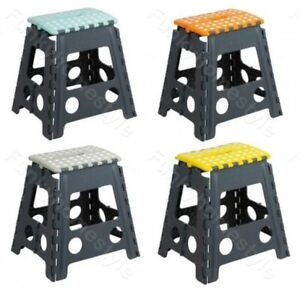 Plastic Foldable Step Stools Easy Storage Collapsible//Bendable Multipurpose
