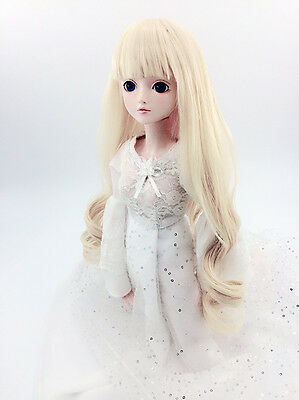 8-9'' 1/3 BJD Doll SD Hair Dollfie DZ DOD LUTS Wavy Curly Toy Wig 8 Colors