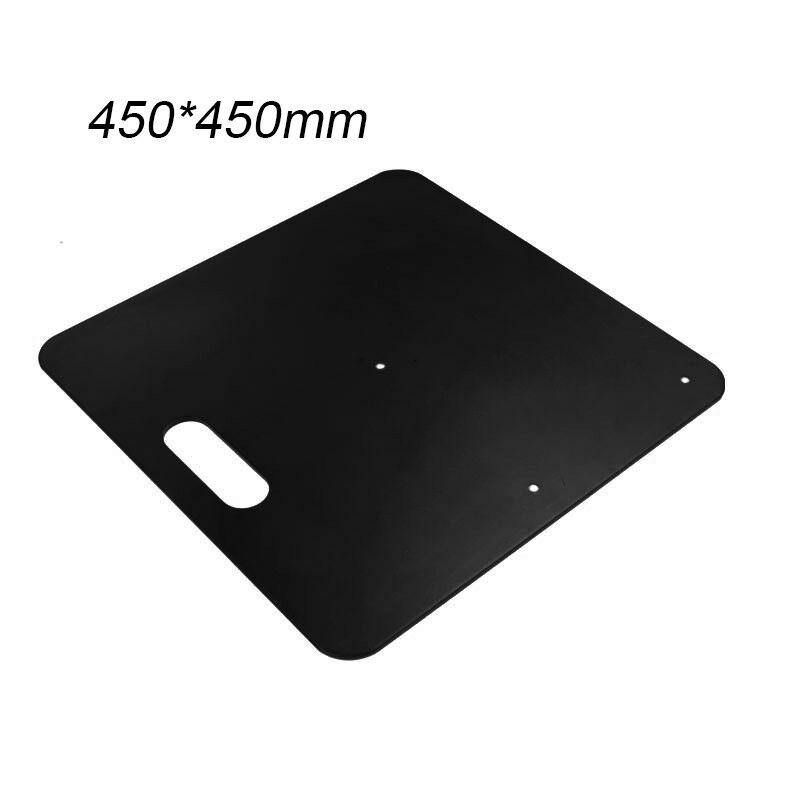 Résistant plaque base pour tuyau et rideau système 450x450mm Noir