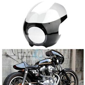 5-3-4-034-Scheinwerfer-Lampenmaske-Verkleidung-Fuer-Harley-Sportster-Dyna-Cafe-Racer