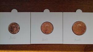 vatican 2007 1 2 5 cents  I