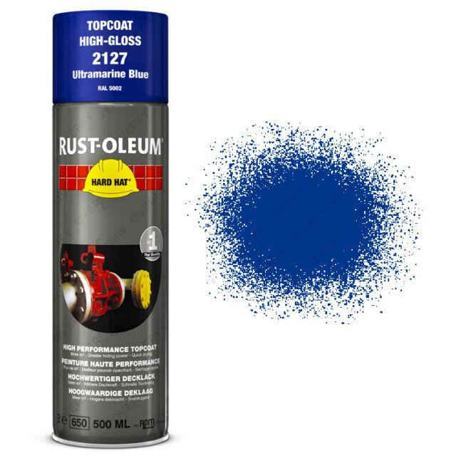 x1 Ultra-High Coverage Rust-Oleum Ultramarine Blue Spray Paint Hard Hat RAL 5002