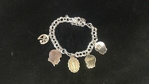 Vintage-Sterling-Silver-Charm-Bracelet-With-5-Charms