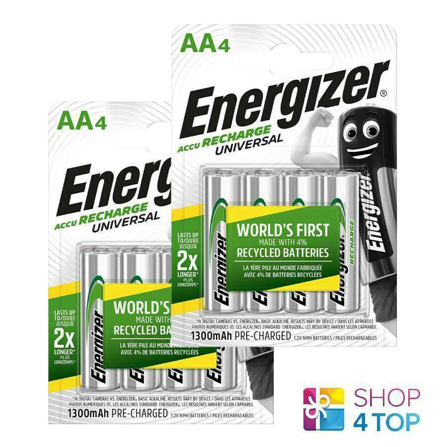 8 Energizer AA hr6 battery recharge universal 1.2v 1300mah nimh batteries new