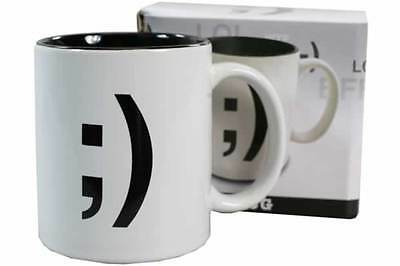 "TEXT TALK "" WINK SYMBOL "" NOVELTY GIFT BOXED COFFEE MUG CUP"
