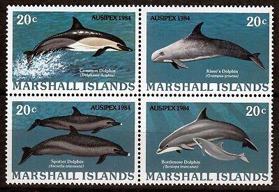 Briefmarken-ausstellung Ausipex 1984-delphine Weitere Rabatte üBerraschungen Briefmarken Gut Marshall-inseln 19-22 **
