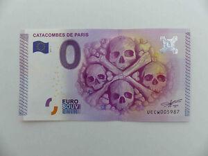 0-Euro-Schein-CATACOMBES-DE-PARIS-2015-1-Totenkopf-Souvenirschein-Geldschein