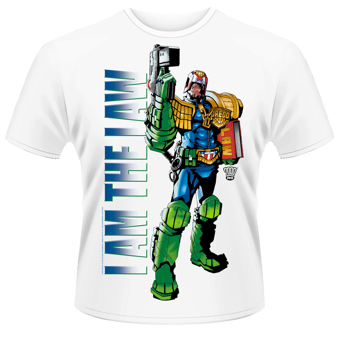Judge Dredd Comic BEHIND YOU Licensed Adult T-Shirt All Sizes