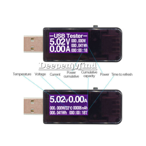 USB LCD Detector Voltmeter Ammeter Power Capacity Voltage Current Meter Tester
