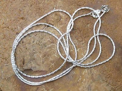 """925 SILVER 1MM CABLE CHAIN/NECKLACE 20"""" INCHES HANDCRAFTED JEWELLERY"""