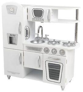 kidkraft vintage wooden play kitchen in white, play set
