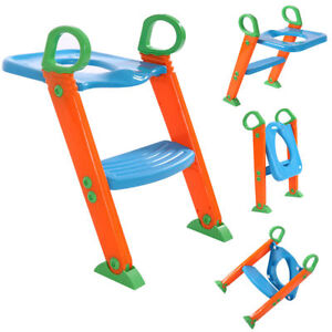 Potty-Trainer-Toilet-Seat-Chair-Kids-Toddler-With-Ladder-Step-Up-Training-Stool