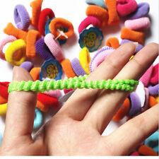 Bestseller 80stk/Satz mehrfabrig nahtlos elastisch Haargummi Kinder Zopfgummi