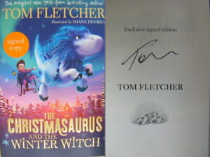 Signed-Book-Christmasaurus-amp-the-Winter-Witch-by-Tom-Fletcher-McFly-Hdbk-1st-Ed