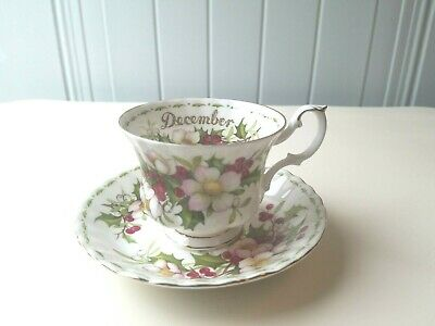 Royal Albert  FLOWERS OF THE MONTH Cup//Saucer December