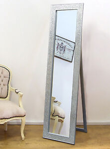 Crackle Glass Mosaic Cheval Free Standing Mirror Shanghai Style ...