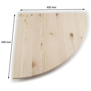 Details About Wooden Corner Shelf 40x40cm Natural Unpainted Pine Floating Wall Display Shelves