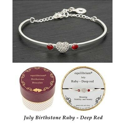 Deep Red Ruby Silver Plated Bracelet Gift Nobility /& Beauty July Birth Stone