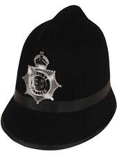 POLIZIOTTO INGLESE RAME britannico Bobby CAPPELLO CASCO POLIZIA Costume Officer