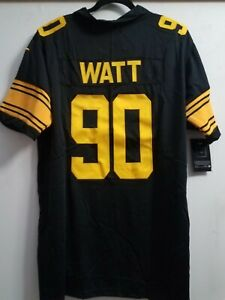 best service a7b66 3514b Details about TJ WATT Pittsburgh Steelers #90 jersey all stitched Brand  NEW! DMR Color Rush XL