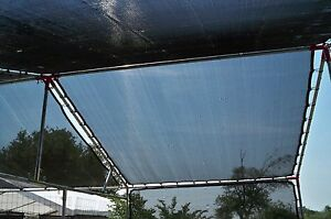 1x Agfabric 70%,12ft x 18ft Prefabricated Sunblock Shade Panel, Shade Tarp Panel