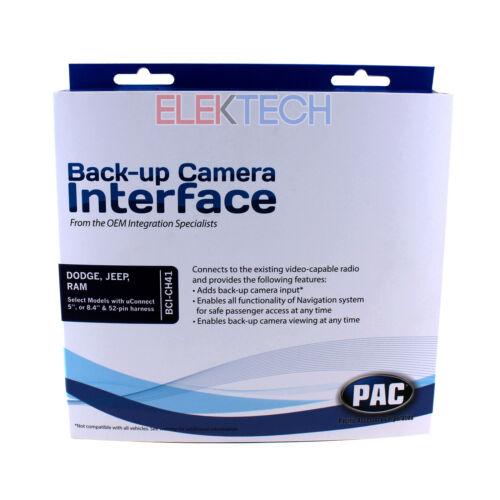 Back-Up Camera w//Navigation /& Video Unlock Interface for Chrysler//Dodge//Jeep//Ram