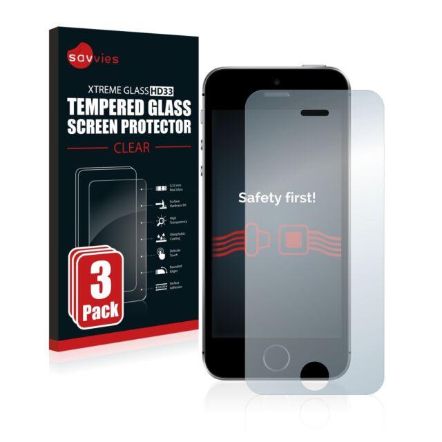 3x Apple iPhone SE Glas Panzerfolie 9H Schutzpanzer Glasfolie Displayschutzfolie