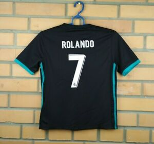 58eb39dd2 Ronaldo Real Madrid kids jersey 9-10 years 2018 away shirt B31092 ...