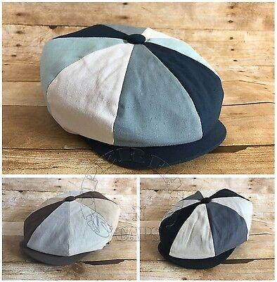 Men/'s Cabbie Newsboy Applejack Paperboy Multi Color Patch Work Snapbill Ivy Hat