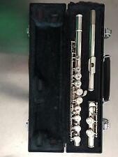 Yamaha YFL-221 Silver-Plated Flute with Case SN745071 Made in Japan