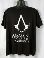 Assassins Creed Mens Black Syndicate Logo T- Shirt Size Xl