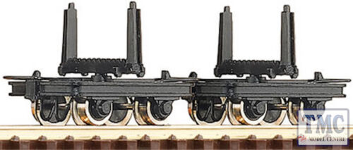 2 RC34602 Roco HOe Scale  Bolster Truck Wagons