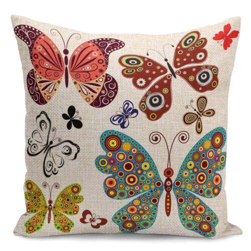 """18/"""" Fashion European Butterfly PillowCases  Home Décor Sofa Waist Cushion Cover"""