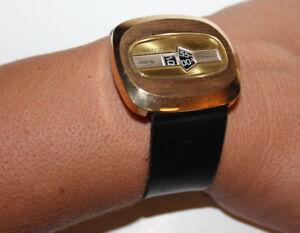 3c3aad65af9 Raro! Antigo Ingersoll 17 Jewel Digital Jump Hour Relógio De Pulso ...